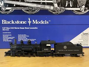 blackstone models k-27 2-8-2 D&RGW no.461 weathered moffat tunnel herald