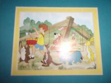 Pooh Bear Parade Walt Disney Limited Edition Stamp 1982 Anguilla Framed