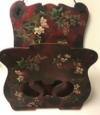 Antique CHINOISERIE HAND PAINTED LACQUER PAPER Papier MACHE LETTER MAILBOX 1880s