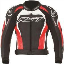 Blousons rouges en cuir pour motocyclette