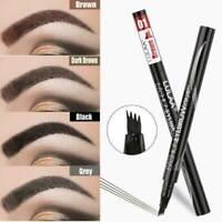 Waterproof Microblading Eye Brow Eyeliner Eyebrow Pen Pencil Brush Makeup Tool !
