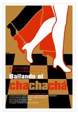 Cuban decor Graphic Design movie Poster 4 film Bailando Chachacha.Dancing art.