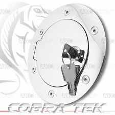 Cobra Tek For Dodge Dakota Ram Key Lock Chrome Plated Aluminum Fuel Gas Door