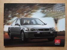HONDA CIVIC 4 DOOR orig 1995-96 UK Mkt Glossy Sales Brochure