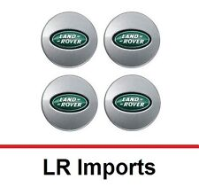 New Set of 4 Land Rover Range Rover Silver and Green Center Wheel Hub Caps