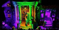 Lemax Spooky Town 13 GHASTLY LANE #05003   Awesome LED Lighting- LAST ONE!