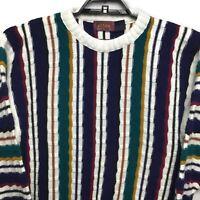 Atlas Vintage Mens Large Sweater Hip Hop Biggie Coogi Style Multi Colors USA