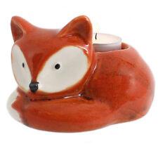Cute Ceramic Cartoon Fox Candle Tea Light Holder Home Decoration