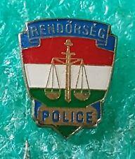 HUNGARIAN POLICE - OLD PIN BADGE