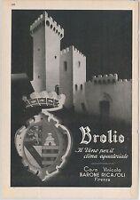 55495  - VINTAGE ITALIAN ADVERTISING from MAGAZINE -  WINE Firenze 1936