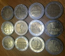 More details for 12 x 2 euro commemorative coins. various designs and countries. eur