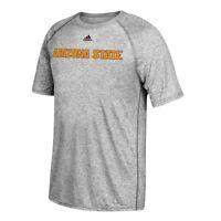 Arizona State Sun Devils NCAA Adidas Men's Grey Team Font T-Shirt