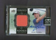 2013 Upper Deck Exquisite Golf Graeme McDowell RC Rookie Jersey AUTO 84/99