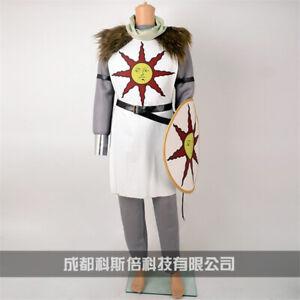 Dark Souls Solaire of Astora Sun Warrior of Sunlight Cosplay Costume with Shield