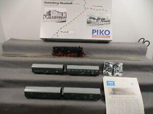 Piko H0 0743/002 Dampflok Personenzug BR 95 1027-2 Set 5-tlg DR Analog OVP P168