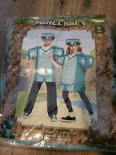 Minecraft Costume Size (7-8) Jumpsuit w/Headpiece