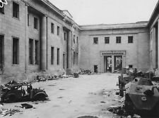 WWII B&W Photo Adolf Hitler HQ Reich Chancellery Berlin 1945 WW2 World War/ 2324