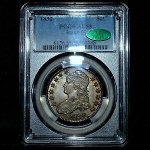 1830 CAPPED BUST HALF DOLLAR ✪ PCGS AU-58 CAC✪ 50C SMALL 0 ALMOST UNC ◢TRUSTED◣