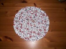 Tischläufer Tischdecke Tischdeko Rund 27cm Tischdeckchen Rot Weiss Nelken Neu