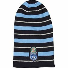 220871 NSW BLUES STATE OF ORIGIN SLOUCH BEANIE HAT SOO NEW SOUTH WALES LONG