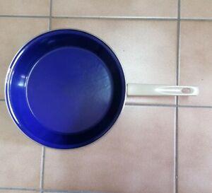 Bratpfanne/Stielpfanne 26 cm Emaille sehr gut erhalten vitage dunkelblau selten