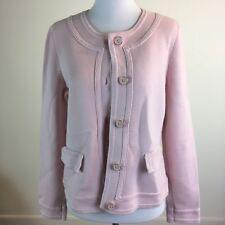 Talbots Women Petities Jacket Pink Button Front Size M P Career Work Wear