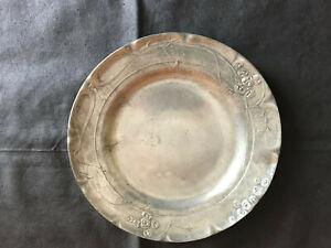 Kayserzinn, Zinnteller, Jugendstil, Modellnummer: 4316, Durchmesser ca. 21 cm