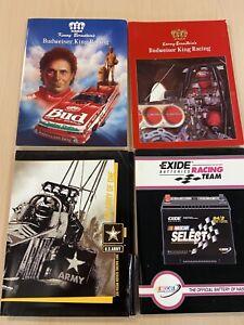 NHRA Kenny Bernstein Tony Schumacher Budweiser Army Exide Press Kit LOT RARE