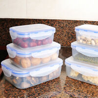 Plastic Food Storage Containers With Air Tight Locking Lid 380ML/800ML/1300ML