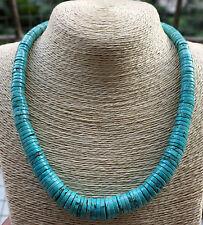 Beautiful!Gradually Abaci Blue Turquoise Necklace 20''