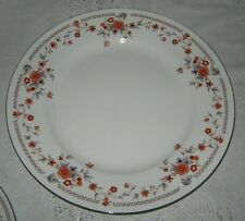 Dynasty Copenhagen 3 Dinner Plates Floral Platinum Trim