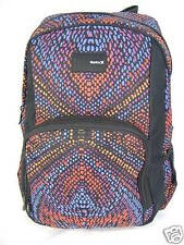 New Womens Girls Hurley Black Purple Orange Backpack Laptop Book Bag