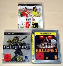 3 PLAYSTATION 3 giochi ps3 raccolta FIFA 12 DARKSIDERS Killzone 2 EGO Shooter