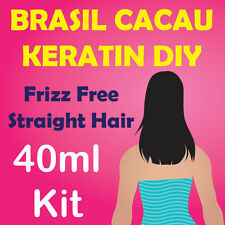 Brasil Cacau Straightening Keratin Hair Treatment - DIY 40ml Kit + Free Comb