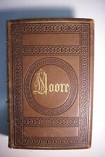 1859 THE POETICAL WORKS OF THOMAS MOORE *w Engravings*Nice Leather Binding!