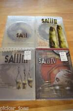 Lion's Gate SAW 1 2 3 4 DVD Movie lot Fullscreen Widescreen III IV SEALED Horror