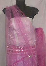 PINK GLITTER TULLE  FABRIC : $6.99 P/ M : RMT8