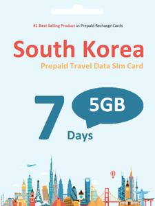 South Korea Travel - 7 days 5GB data SIM card 4G/LTE SK Telecom network
