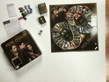 Twilight Saga New Moon The Movie Board Game Tin Box Cullen Metal Crest Pieces