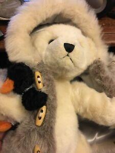 Collectable Bear with penguin  Bearington Collection reg #PA 10186, 2003