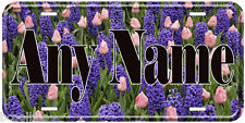 Hyacinth and Tulip Flowers Any Name Personalized Novelty Car License Plate