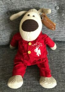 """Boofle Take Me To Bed Dog Red Pyjamas Tag 16"""" Soft Toy"""