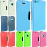FOR APPLE IPHONE 5C LEATHER CASE COVER WALLET FLIP POUCH FREE SCREEN PROTECTOR