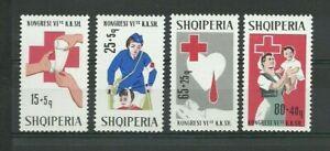 ALBANIA. 1967. Medicine, Red Cross. MNH OG. RARE SET ! High CV !
