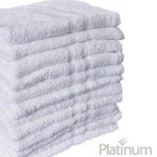 3 NEW POLY COTTON HOTEL BATH TOWELS 24X50 PLUSH PLATINUM PREMIUM