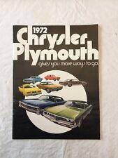1972 Chrysler Plymouth Sale Brochure Original