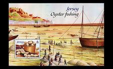 JERSEY  2014  Oester vissen  oyster fishing   schip ships blok-m/s   posfris/mnh