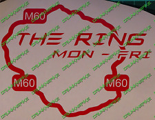 The M60 Ring Funny Car Graphic Stickers JDM Manchester VW Euro Dub nurburgring