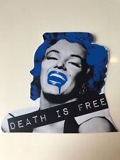 "Death NYC Official STICKER Graffiti Painting Pop Art ""Monro Devil DIF Blue"""