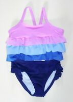 Gymboree Girls 2-Piece Tankini Tiered Bathing Swimsuit XS(4)  M(7-8) NWT